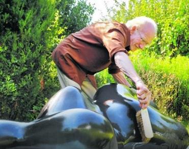 Kunstenaar Piet Slegers (92) uit Velp overleden