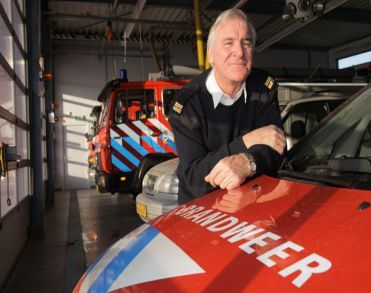 Oud-commandant Wim van den Hanenberg 69) brandweer Geffen  plotseling overleden