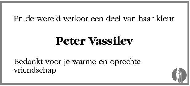 Overlijdensbericht van Peter Vassilev in Leeuwarder Courant