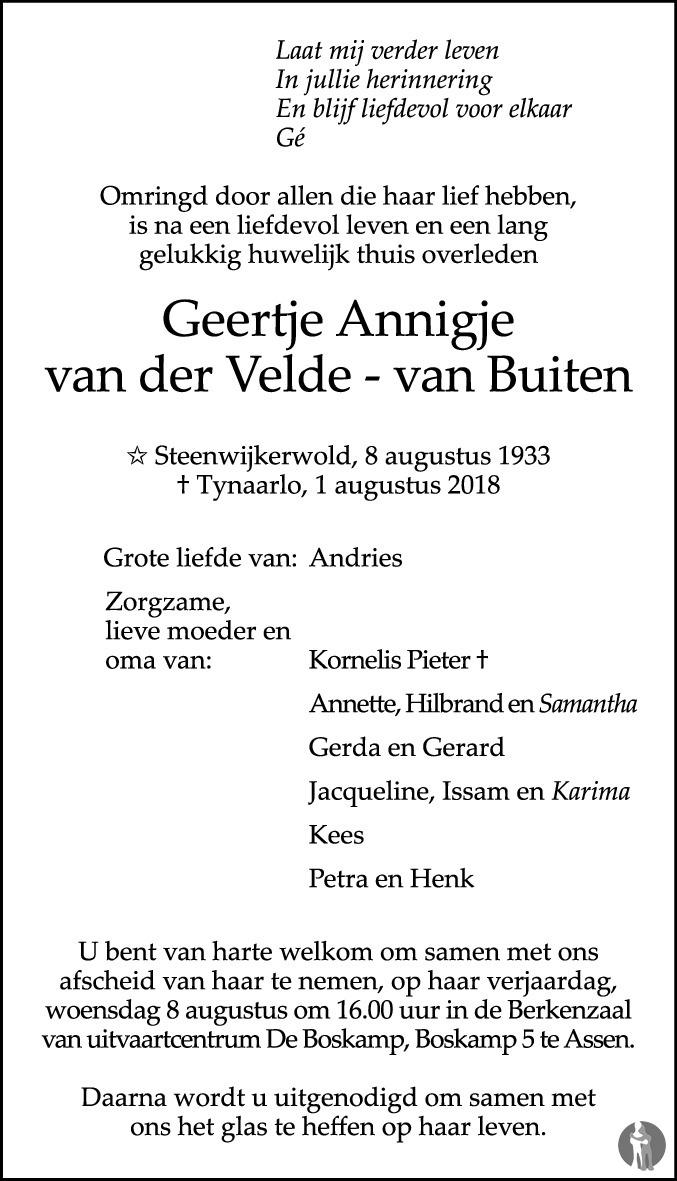 Geertje Annigje Van Der Velde Van Buiten 01 08 2018