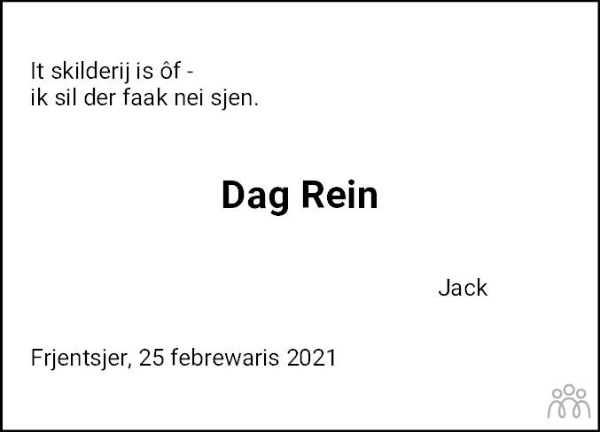 Overlijdensbericht van Rein Halbersma in Friesch Dagblad