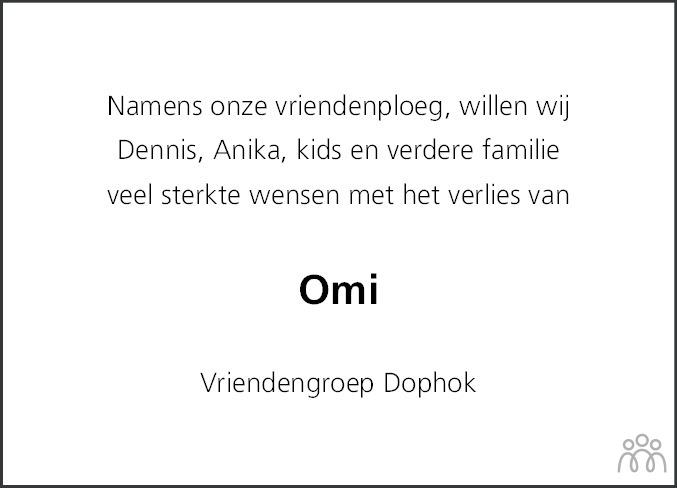 Overlijdensbericht van Hendrika Johanna (Henny) Geenen-Verheijen in Sneeker Nieuwsblad