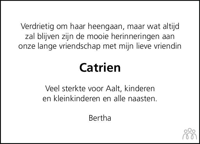 Overlijdensbericht van Catrien Drost in Meppeler Courant