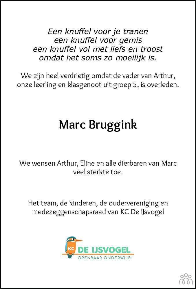Overlijdensbericht van Marc Bruggink in Meppeler Courant