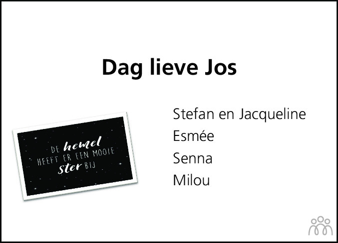 Overlijdensbericht van Jossita Michiels in Hoogeveensche Courant