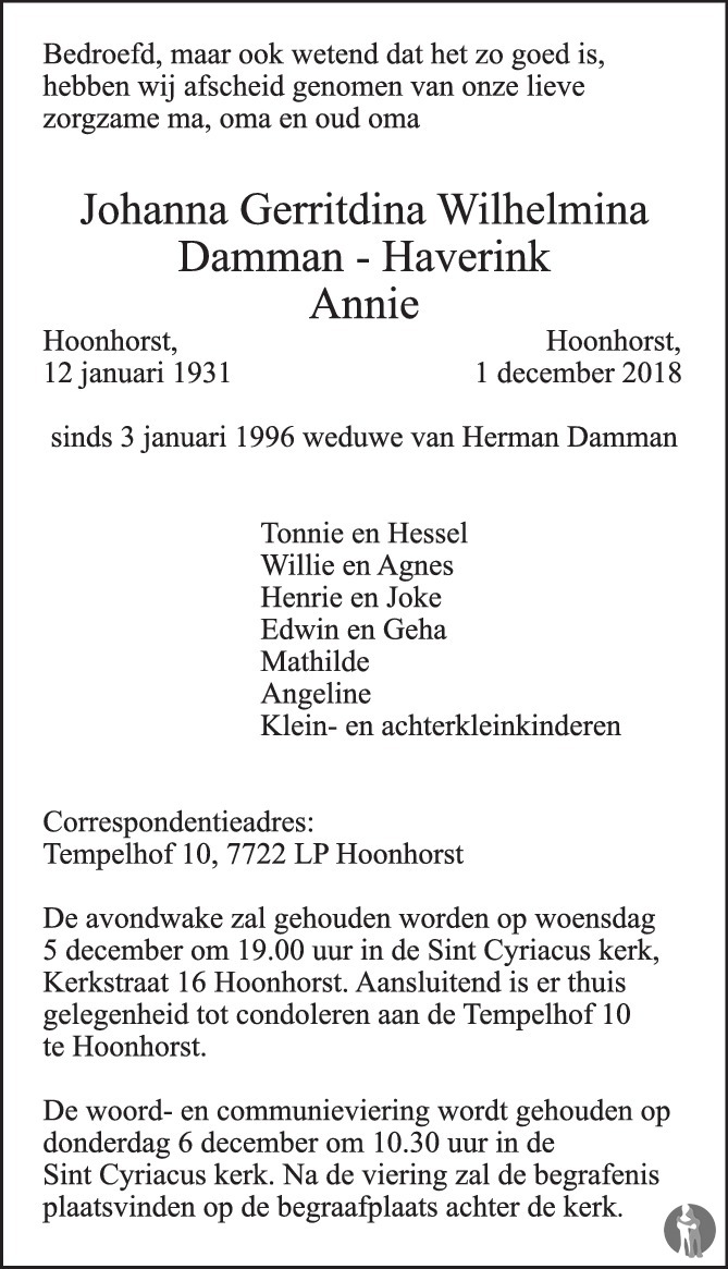 Johanna Gerritdina Wilhelmina Annie Damman Haverink 01 12