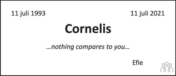 Overlijdensbericht van Cornelis  in Het Parool