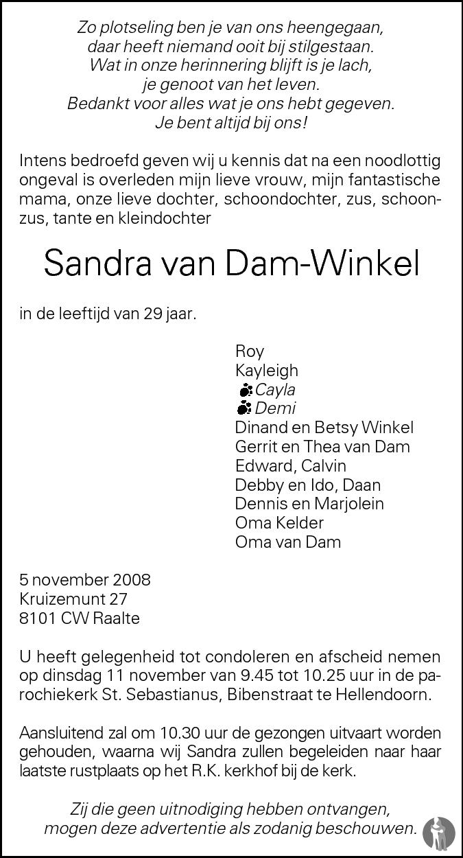 Bram van Dam ✝ 29 12 2010 overlijdensbericht en