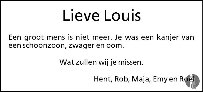 Louis Sikking ✝ 29-03-2009 overlijdensbericht en