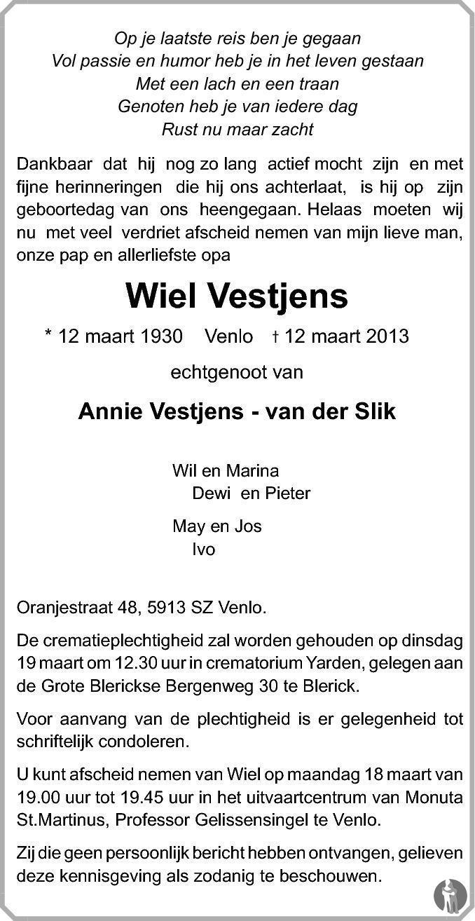 Wiel Vestjens - Wiel Verwijst - Venloosche Carnaval Schlagers no. 9