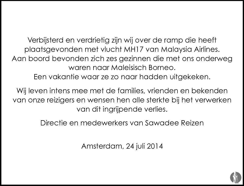 Overlijdensbericht van 196 Nederlanders overleden  in Mensenlinq