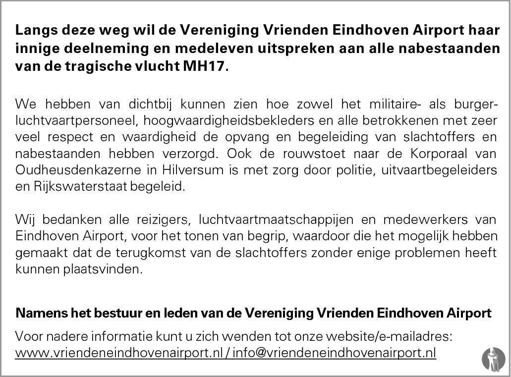 Overlijdensbericht van 196 Nederlanders overleden  in Eindhovens Dagblad