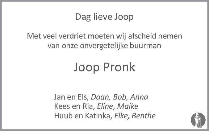 joop pronk