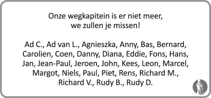 Overlijdensbericht van Christiaan Adriaan Cornelis (Chris) Reijerse in PZC Provinciale Zeeuwse Courant