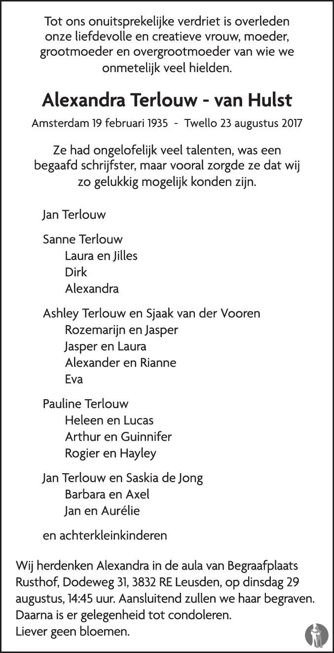 Alexandra Terlouw Van Hulst 23 08 2017