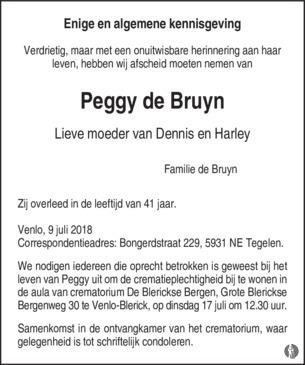 De Bruyn Koeriers.Peggy De Bruyn Mensenlinq Nl De Weekkrant Overlijden Nieuws