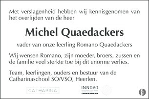 advertentie van Michel  Quaedackers