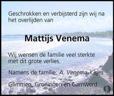 Walter Venema - To God Be The Glory