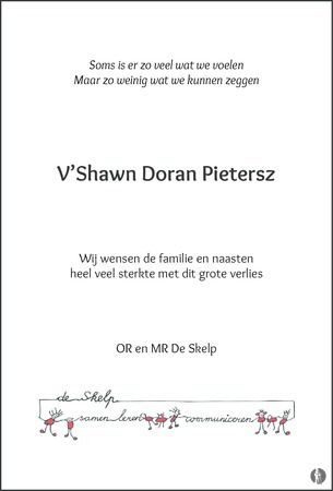 advertentie van V'Shawn Doran Pietersz