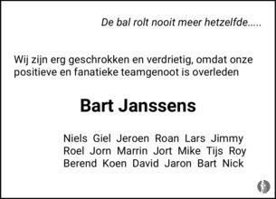 advertentie van Bart   Janssens