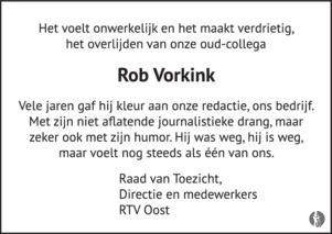advertentie van Rob Vorkink