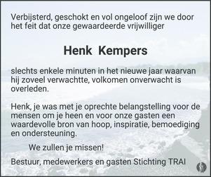 advertentie van Henk Kempers