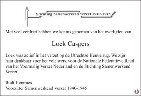 advertentie van Nellie Cato (Elsa - Loek) Caspers