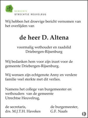 advertentie van Douwe Altena