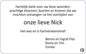 advertentie van Nick Fles