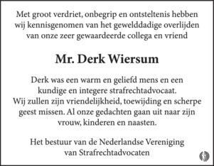 advertentie van Derk  Wiersum