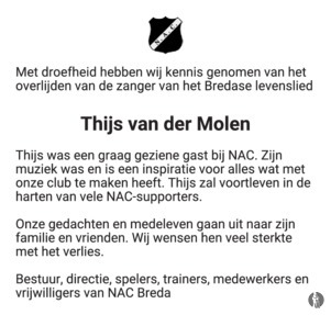 advertentie van Thijs van der Molen