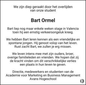 advertentie van Bart  Ormel