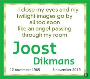 advertentie van Joost   Dikmans