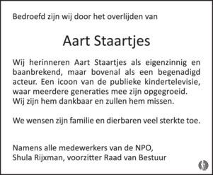 advertentie van Aart Staartjes