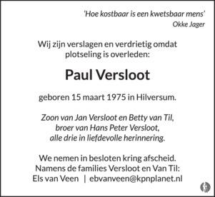 advertentie van Paul Versloot