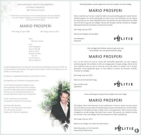 overlijdensbericht van Mario Prosperi