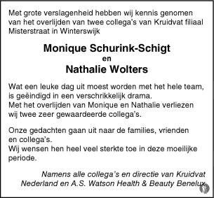 Ongeval Kruidvat Medewerkers 29 09 2007 Overlijdensbericht En
