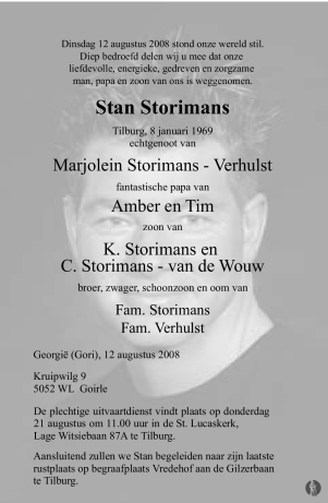 advertentie van Stan Storimans