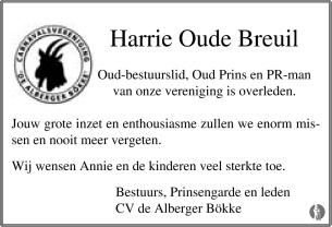 advertentie van Harrie Oude Breuil