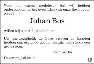 Johan bos facebook
