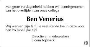 advertentie van Ben Venerius