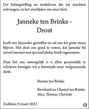 Bennie ten brinke bribus