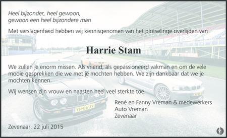 Harrie Stam 17-07-2015 overlijdensbericht en condoleances ... Week Of September 20 2010 Photos