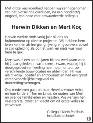 advertentie van Mert Koç