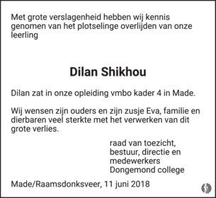 advertentie van Dilan  Shikhou