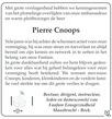 advertentie van Pierre  Cnoops