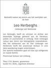 advertentie van Leo Herberghs