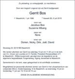 advertentie van Gerrit  Bos