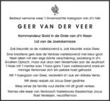advertentie van Geer   van der Veer