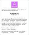 overlijdensbericht van Pieter  Smit